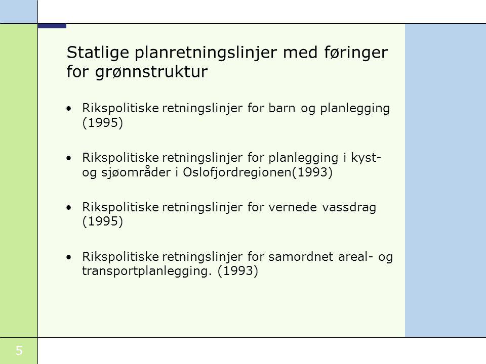 Statlige planretningslinjer med føringer for grønnstruktur