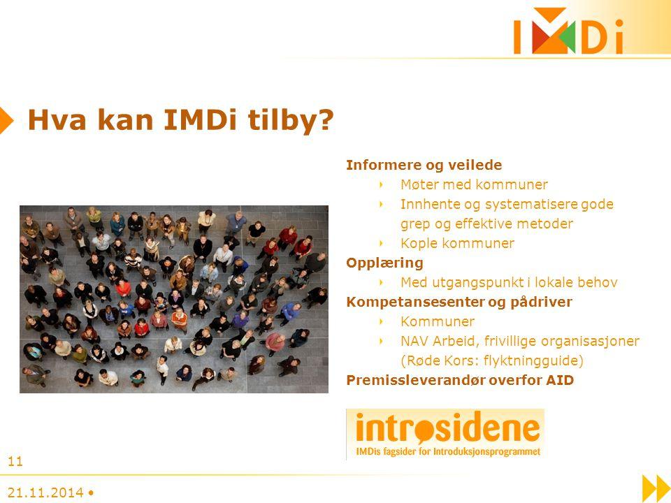 Hva kan IMDi tilby Informere og veilede Møter med kommuner