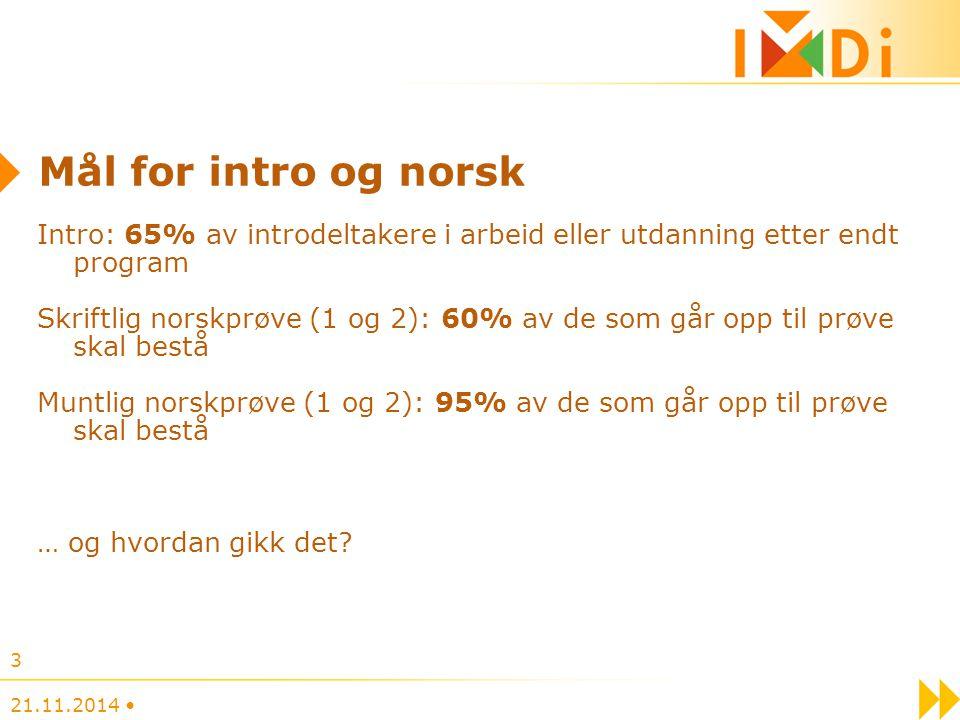 Mål for intro og norsk