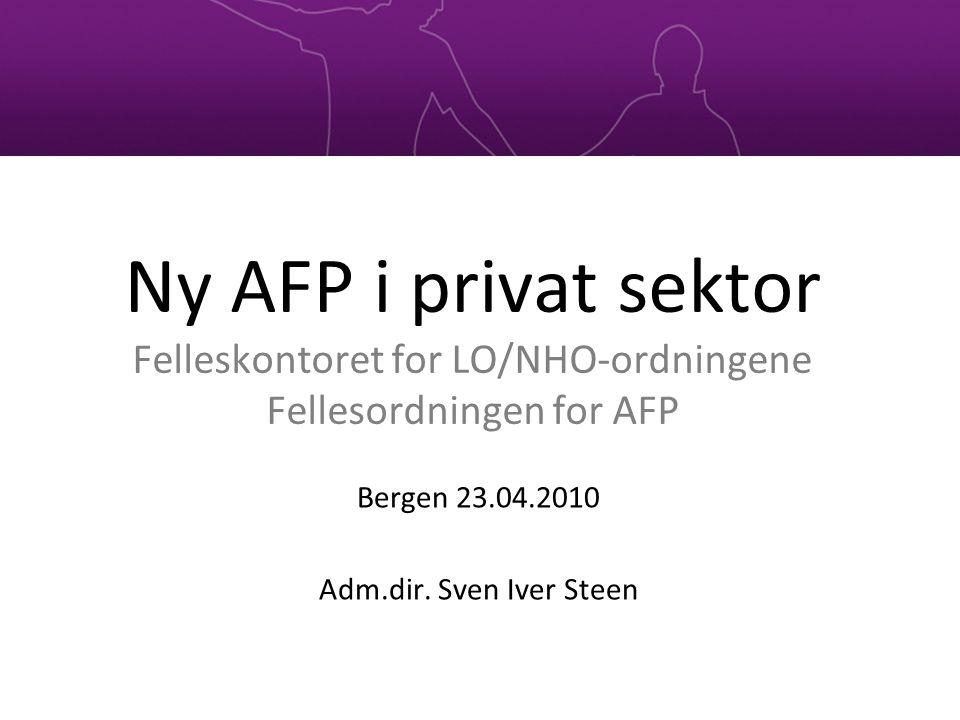 Bergen 23.04.2010 Adm.dir. Sven Iver Steen