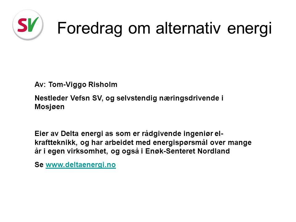 Foredrag om alternativ energi
