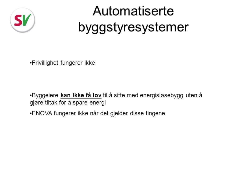 Automatiserte byggstyresystemer