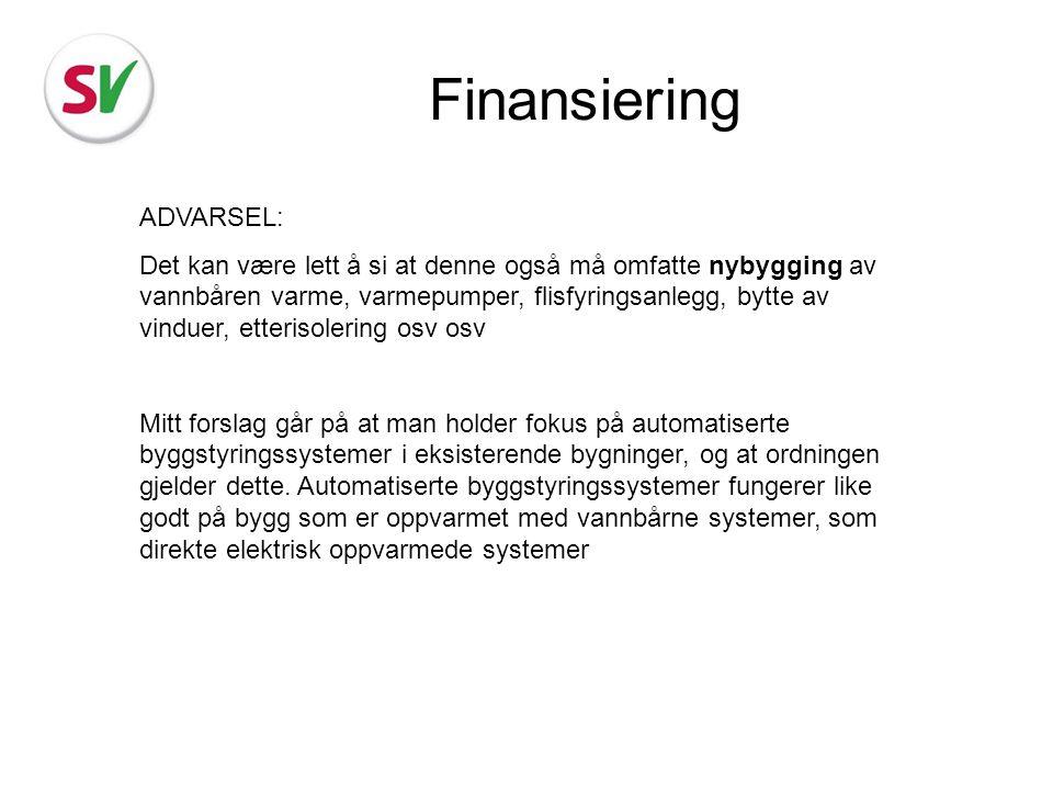 Finansiering ADVARSEL: