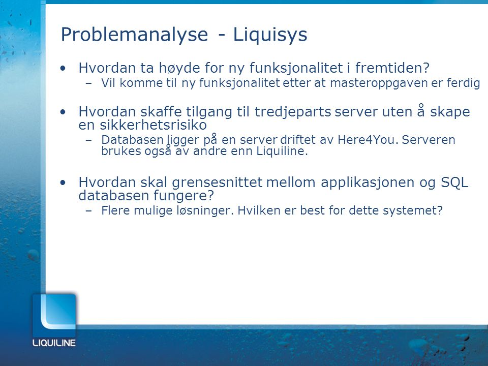 Problemanalyse - Liquisys