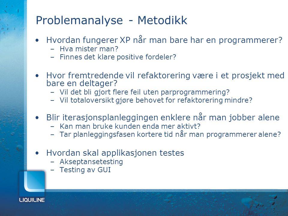Problemanalyse - Metodikk