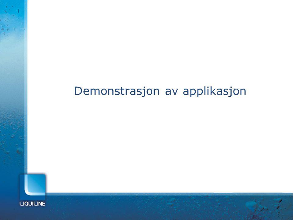 Demonstrasjon av applikasjon