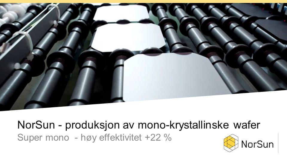 NorSun - produksjon av mono-krystallinske wafer