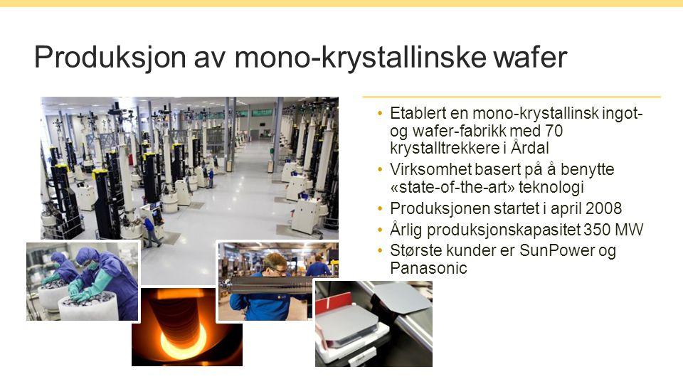 Produksjon av mono-krystallinske wafer