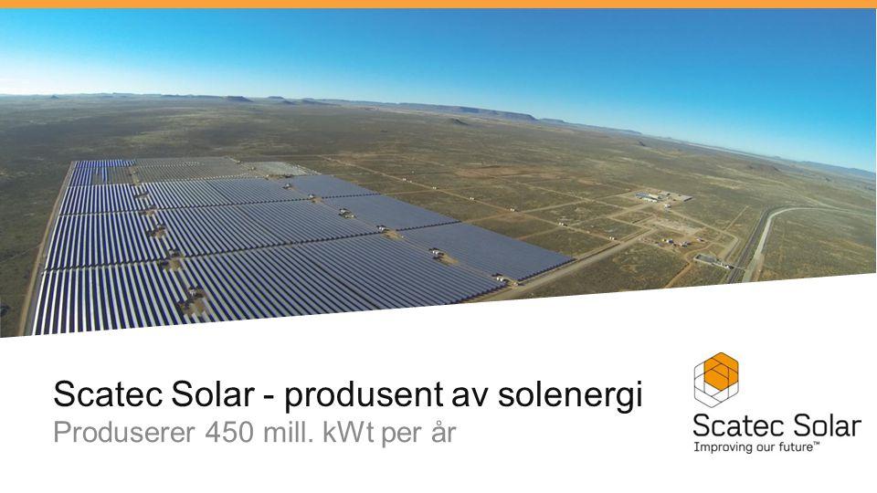 Scatec Solar - produsent av solenergi