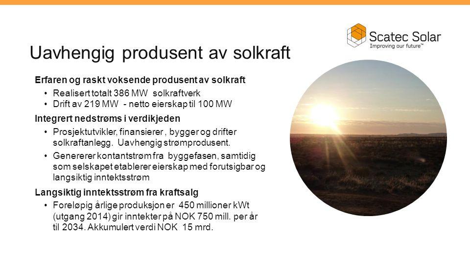 Uavhengig produsent av solkraft