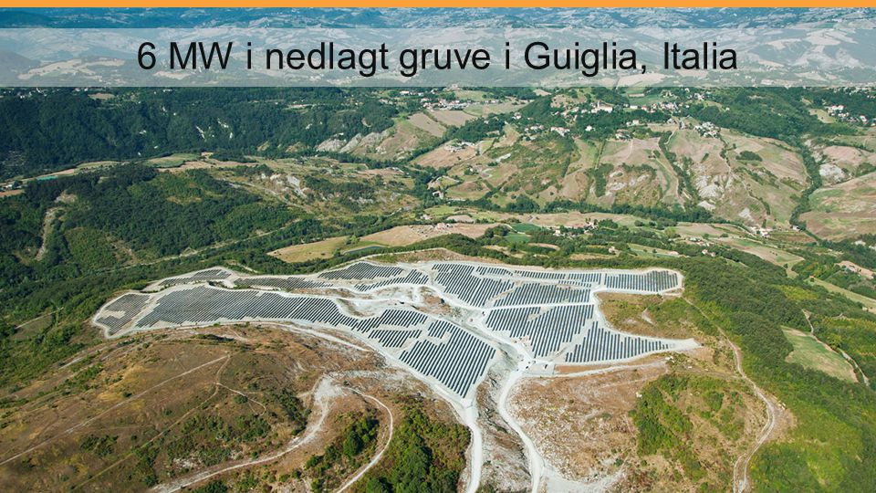 6 MW i nedlagt gruve i Guiglia, Italia