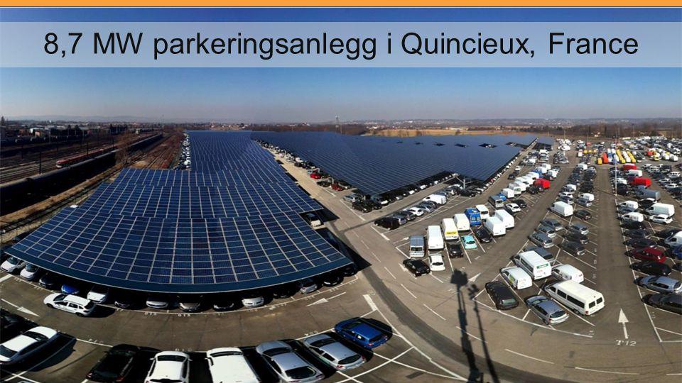 8,7 MW parkeringsanlegg i Quincieux, France