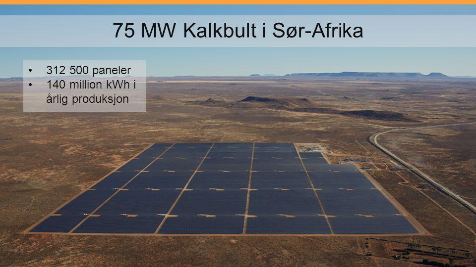75 MW Kalkbult i Sør-Afrika