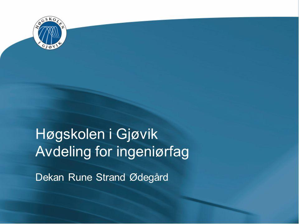 Høgskolen i Gjøvik Avdeling for ingeniørfag