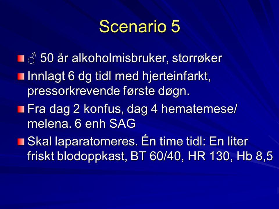 Scenario 5 ♂ 50 år alkoholmisbruker, storrøker