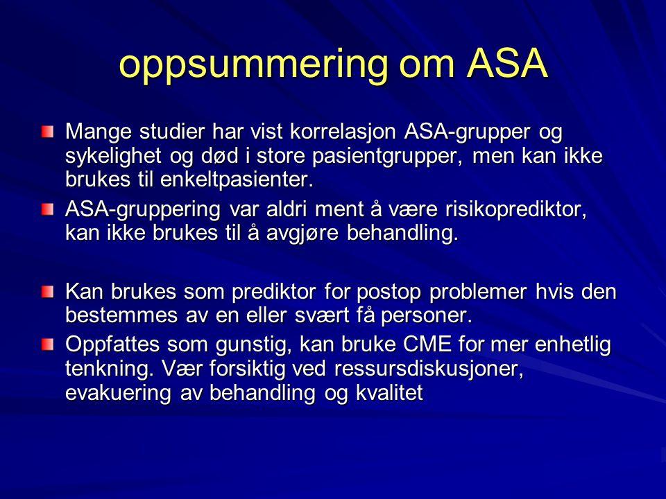 oppsummering om ASA