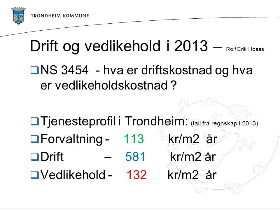 Drift og vedlikehold i 2013 – Rolf Erik Hoaas