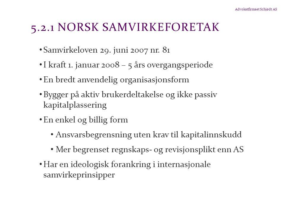 5.2.1 Norsk samvirkeforetak