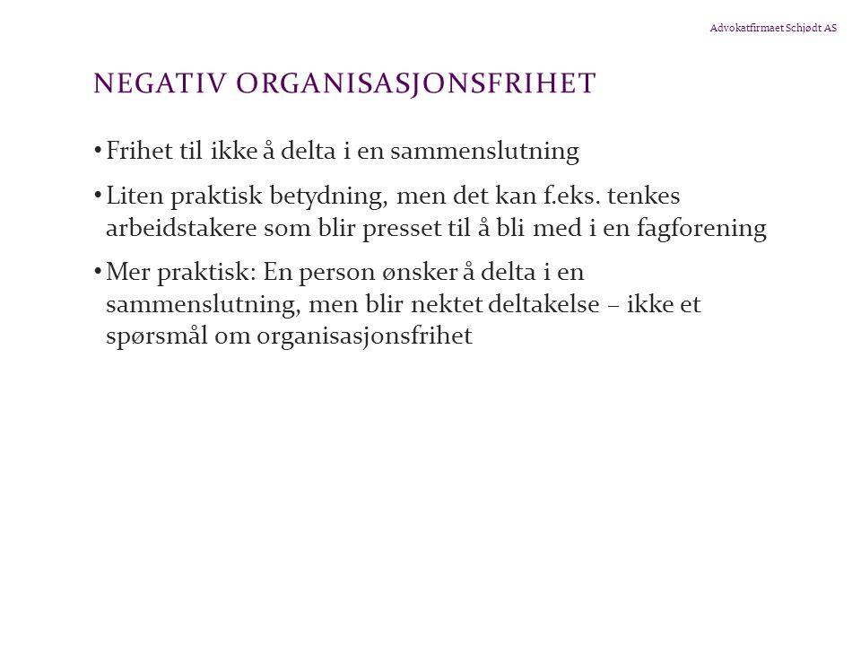 Negativ organisasjonsfrihet