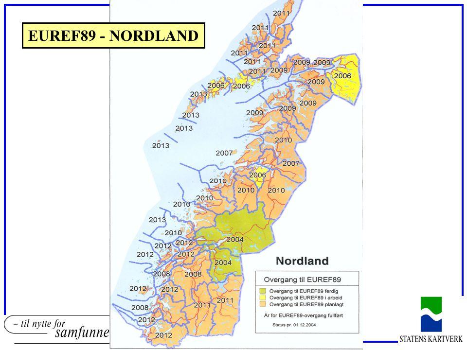 EUREF89 - NORDLAND Valg av transformasjonsmetode