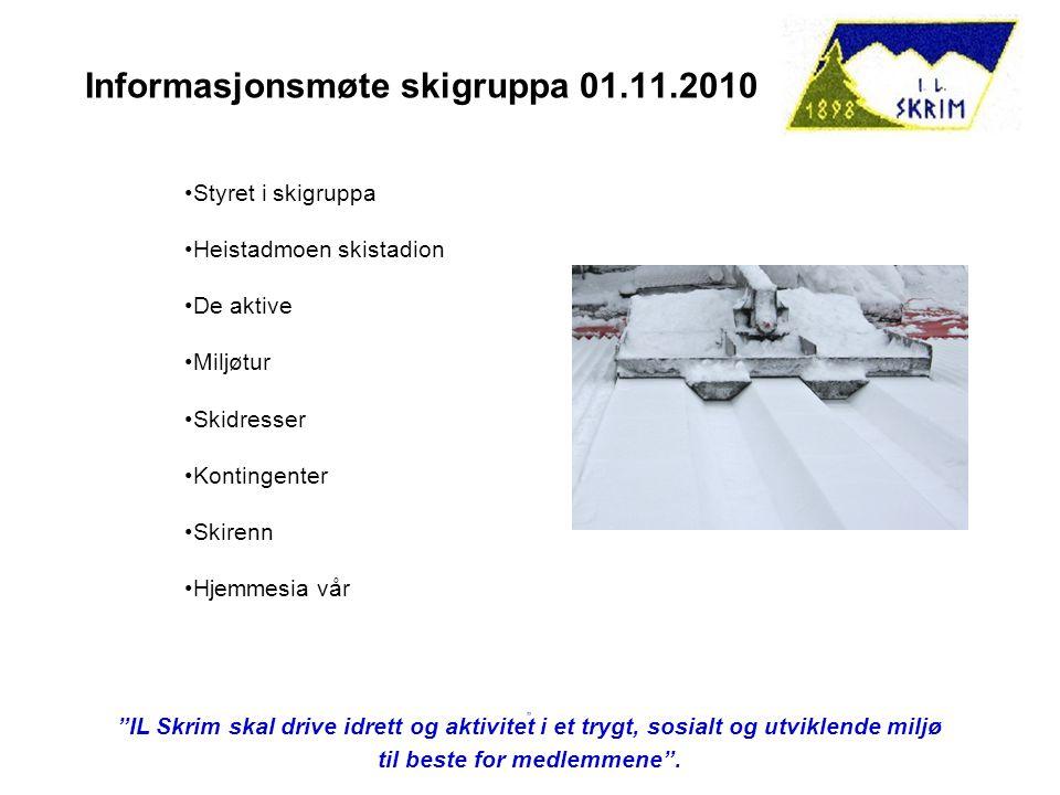 Informasjonsmøte skigruppa 01.11.2010