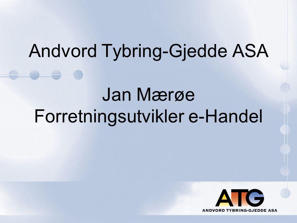 Andvord Tybring-Gjedde ASA Jan Mærøe Forretningsutvikler e-Handel