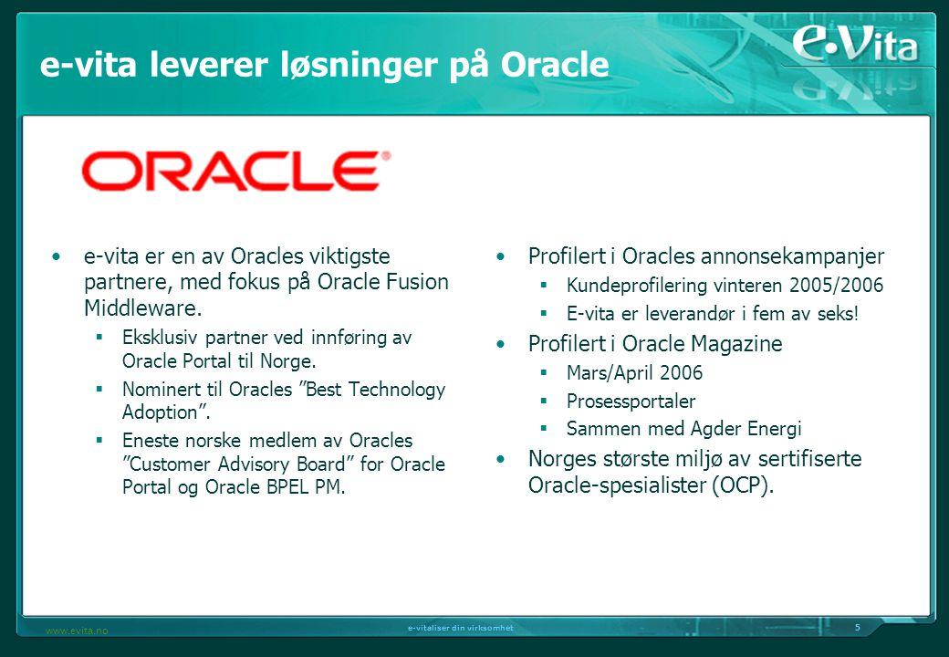 e-vita leverer løsninger på Oracle