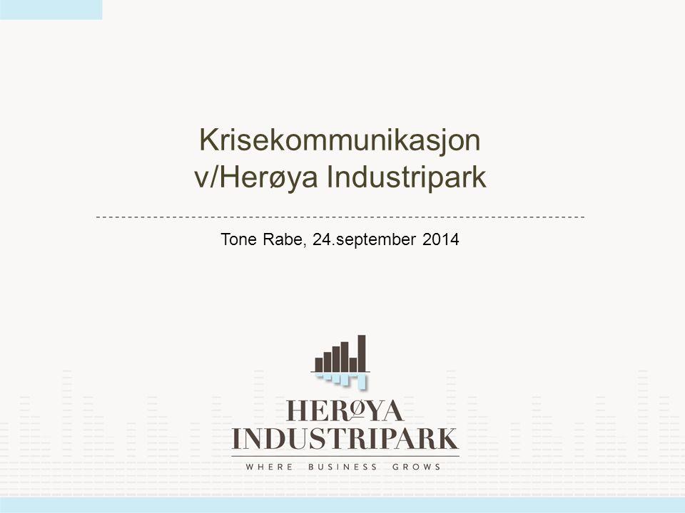 Krisekommunikasjon v/Herøya Industripark