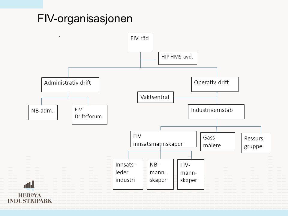 FIV-organisasjonen Operativ drift Industrivernstab Gass-målere
