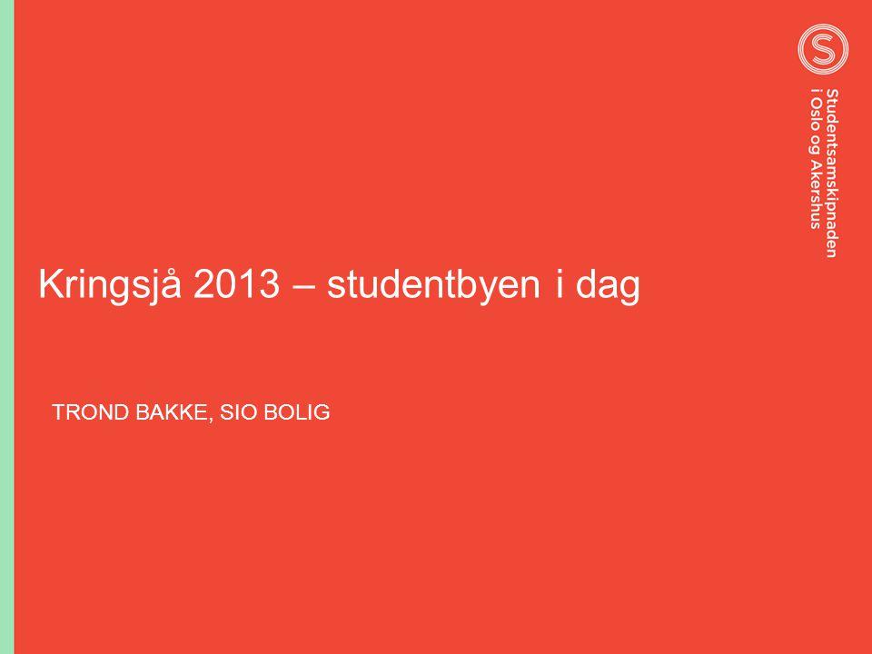 Kringsjå 2013 – studentbyen i dag