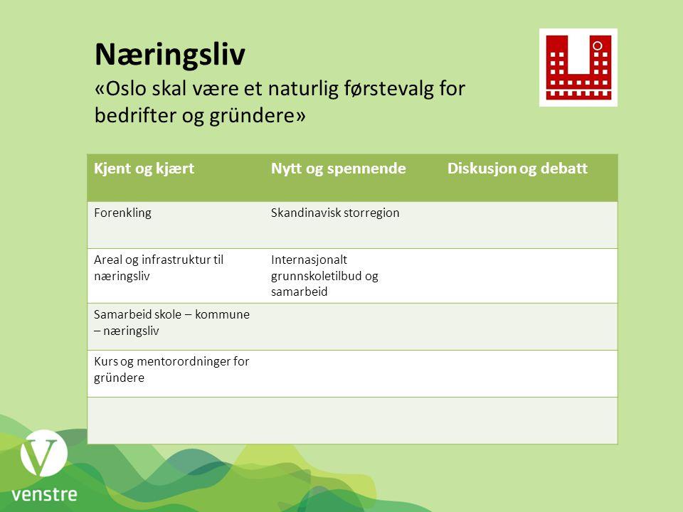Næringsliv «Oslo skal være et naturlig førstevalg for