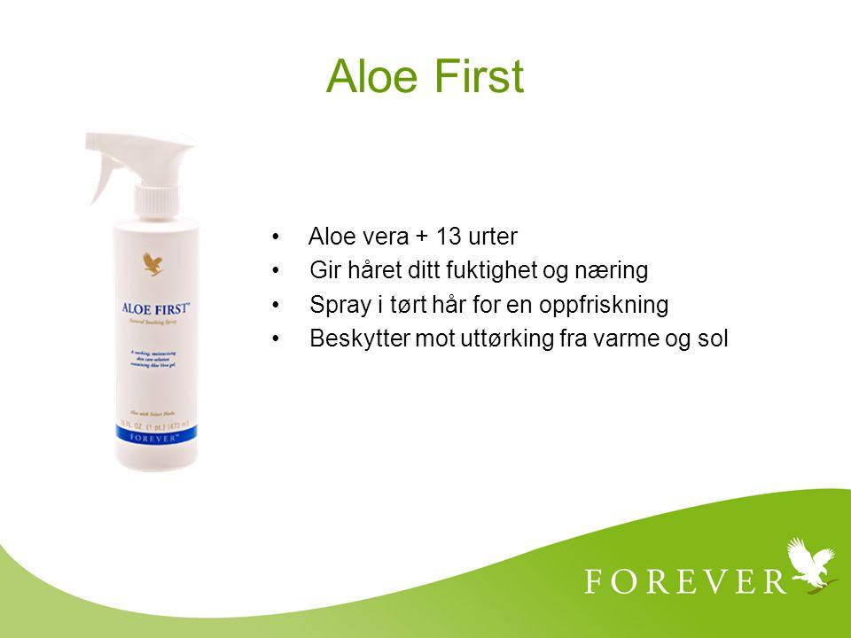 Aloe First Aloe vera + 13 urter Gir håret ditt fuktighet og næring