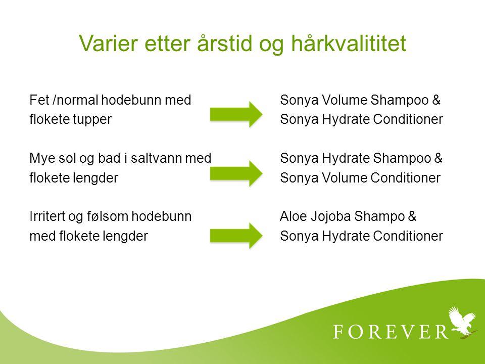 Varier etter årstid og hårkvalititet