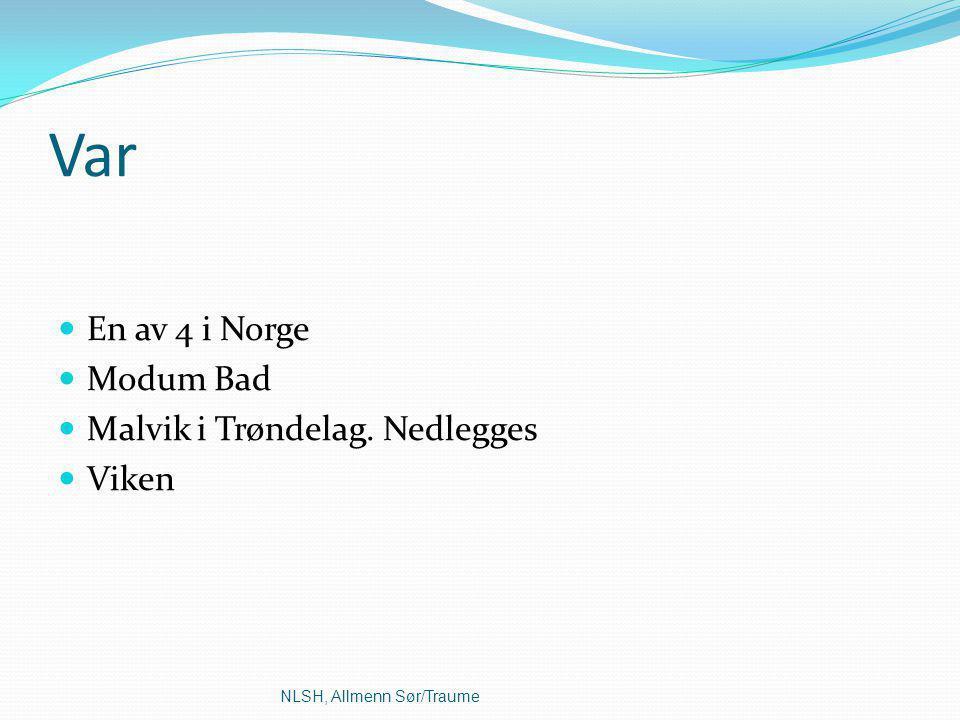 Var En av 4 i Norge Modum Bad Malvik i Trøndelag. Nedlegges Viken