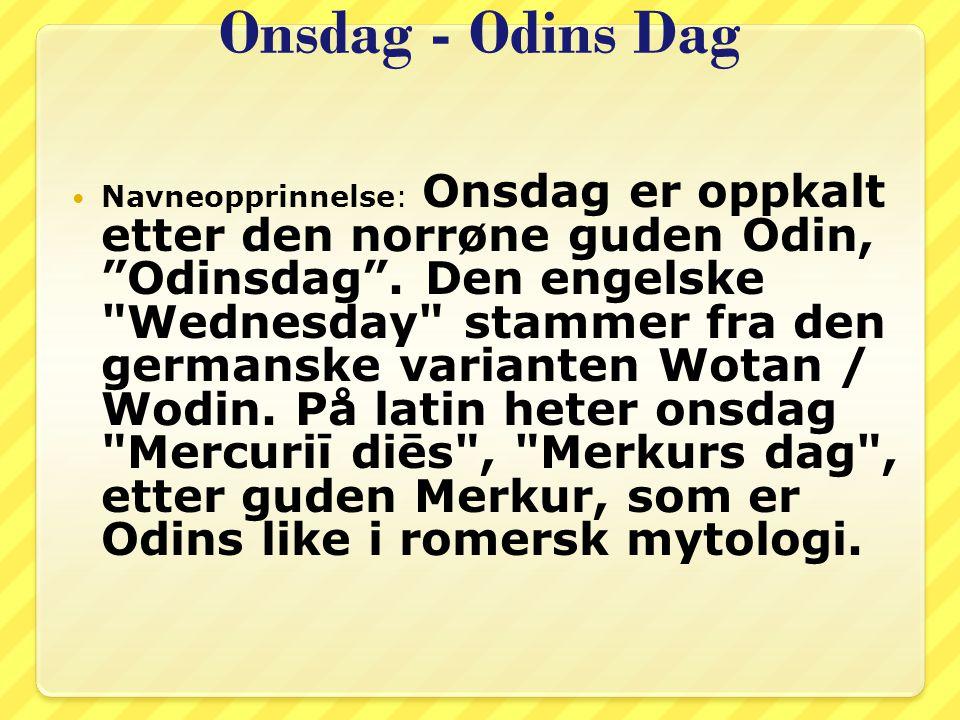 Onsdag - Odins Dag