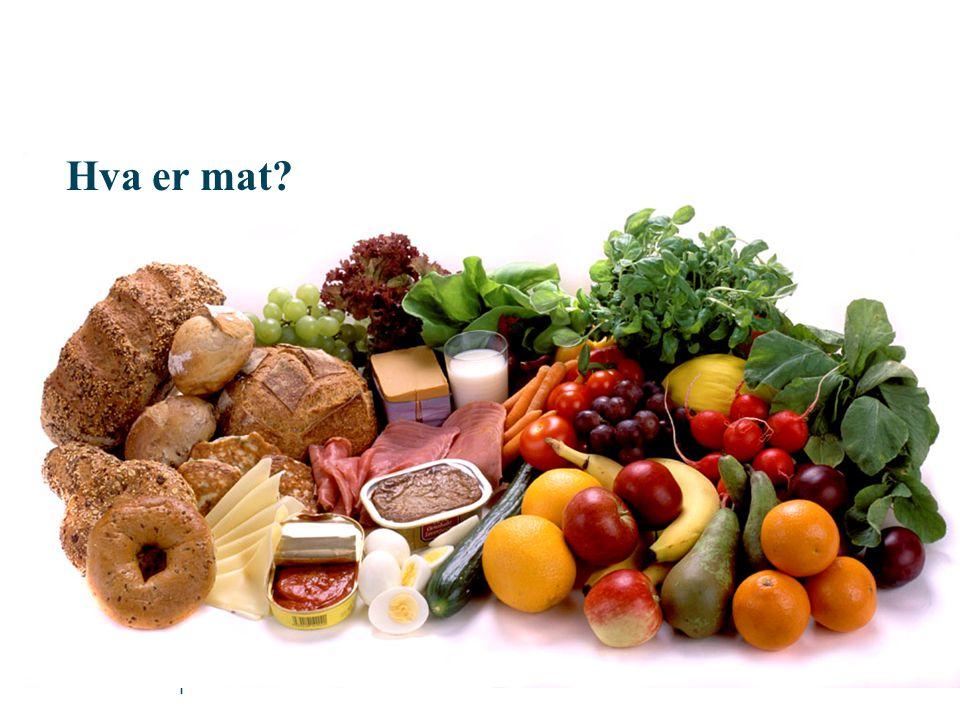 Hva er mat Gi deltakerne en kort innføring i næringsstoffer som gir energi, og næringsstoffer som ikke gir energi.