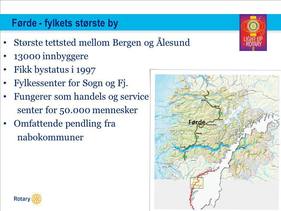 Førde - fylkets største by