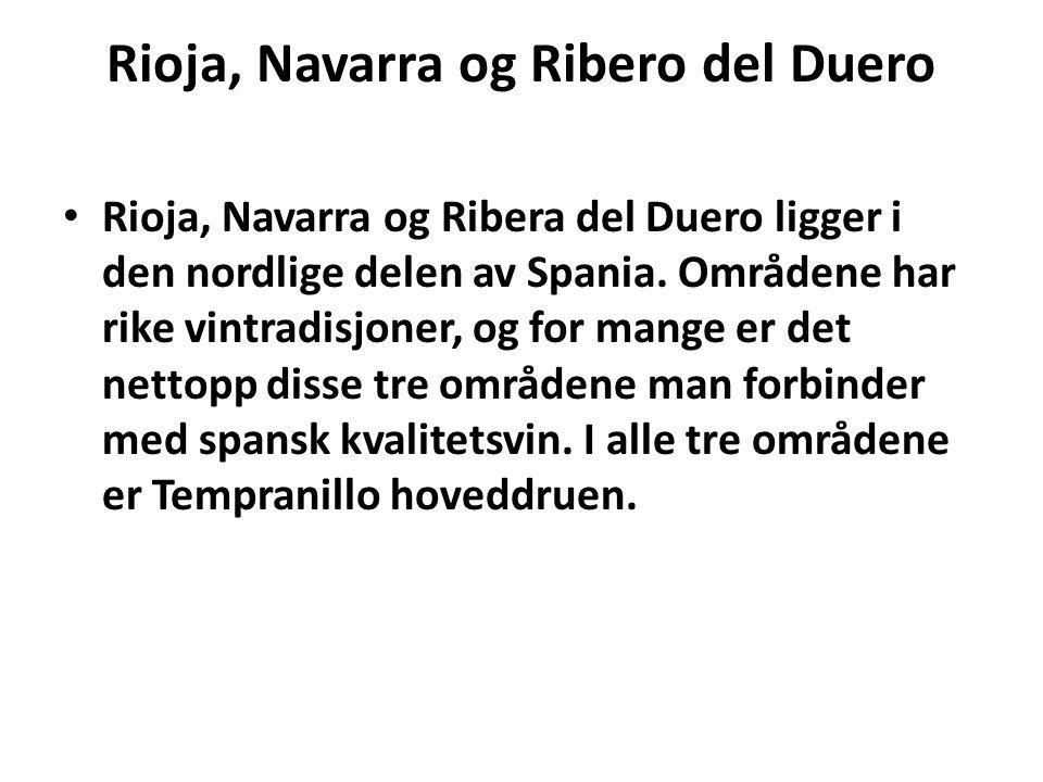 Rioja, Navarra og Ribero del Duero