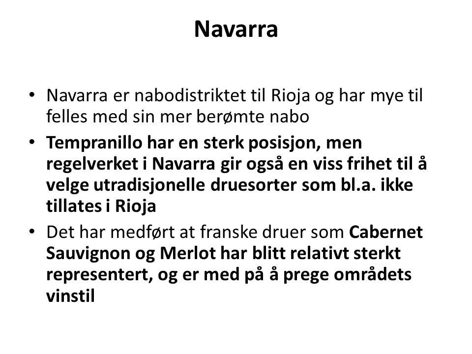 Navarra Navarra er nabodistriktet til Rioja og har mye til felles med sin mer berømte nabo.