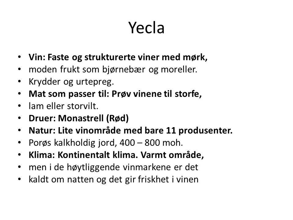 Yecla Vin: Faste og strukturerte viner med mørk,