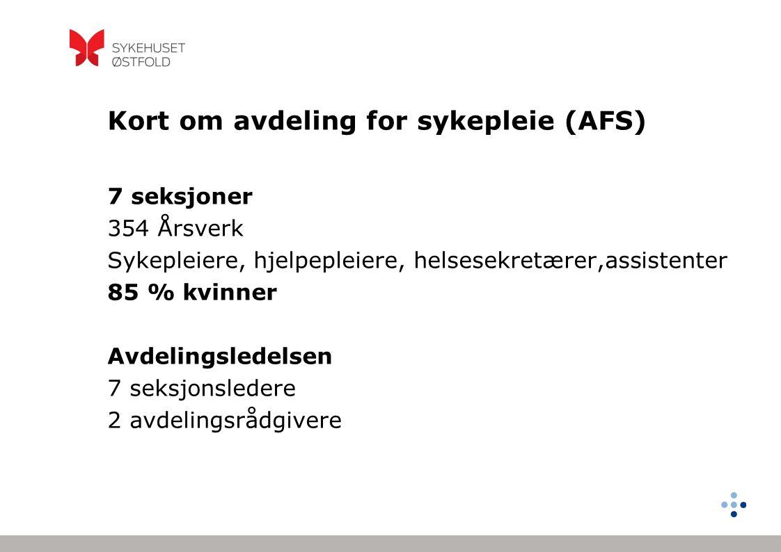 Kort om avdeling for sykepleie (AFS)