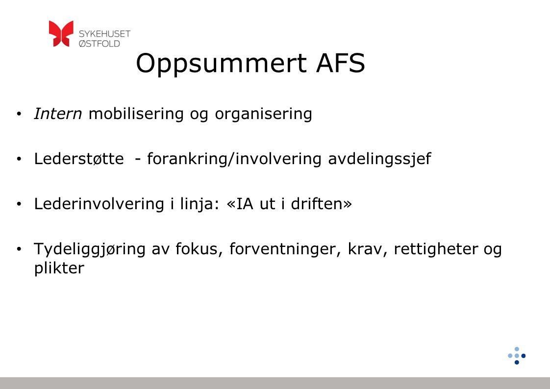 Oppsummert AFS Intern mobilisering og organisering