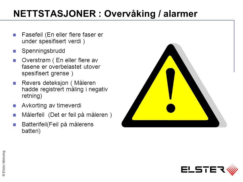 NETTSTASJONER : Overvåking / alarmer