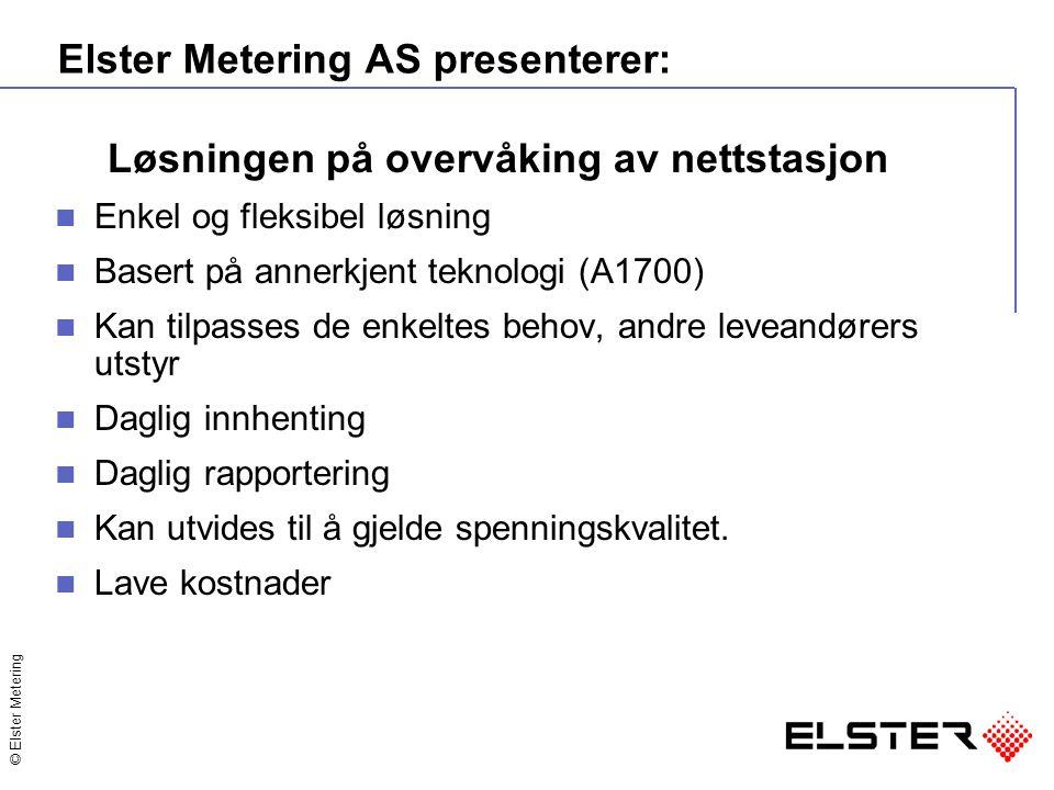 Elster Metering AS presenterer: