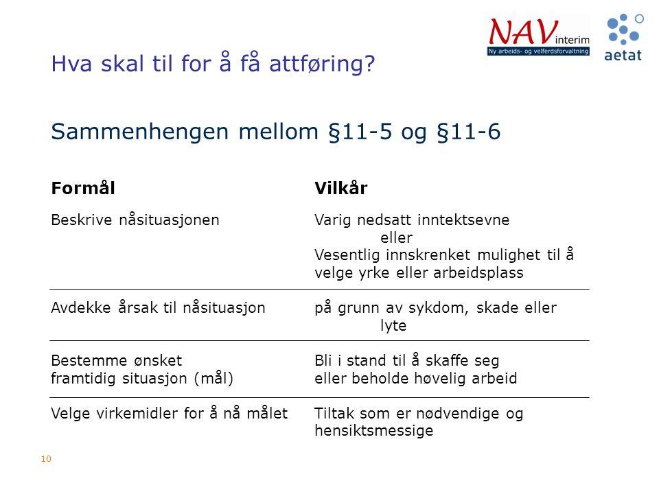 Sammenhengen mellom §11-5 og §11-6