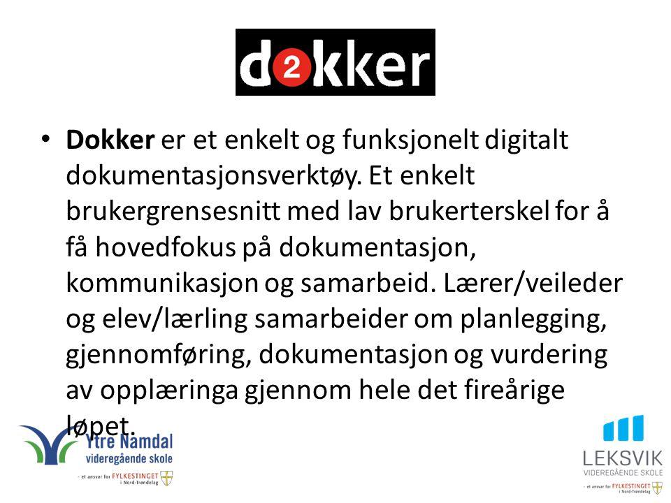 Dokker er et enkelt og funksjonelt digitalt dokumentasjonsverktøy
