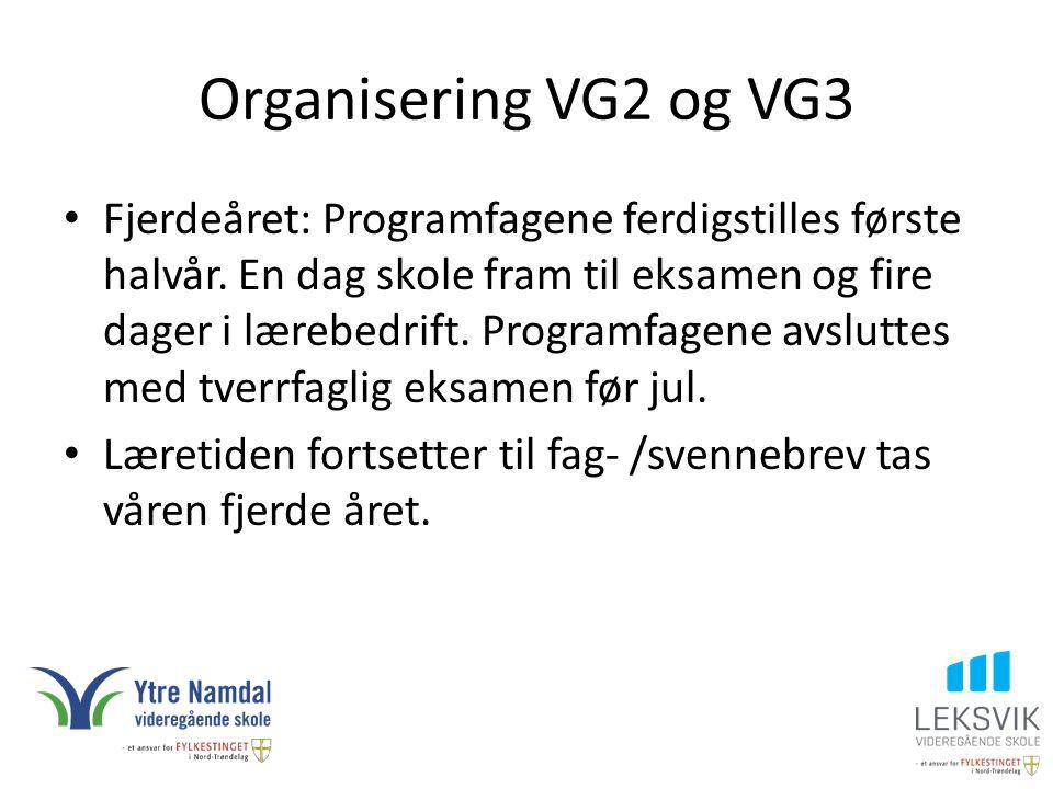 Organisering VG2 og VG3