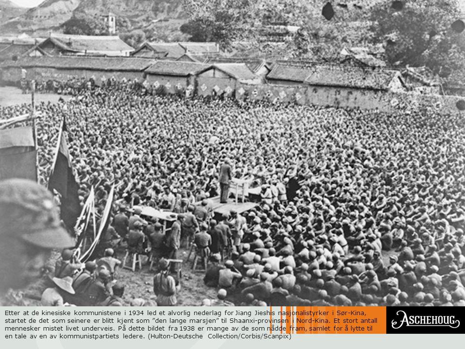 Etter at de kinesiske kommunistene i 1934 led et alvorlig nederlag for Jiang Jieshis nasjonalistyrker i Sør-Kina, startet de det som seinere er blitt kjent som den lange marsjen til Shaanxi-provinsen i Nord-Kina.