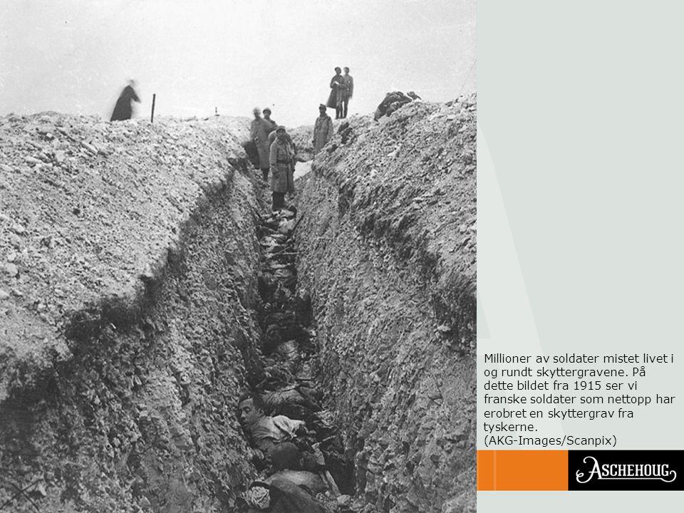 Millioner av soldater mistet livet i og rundt skyttergravene