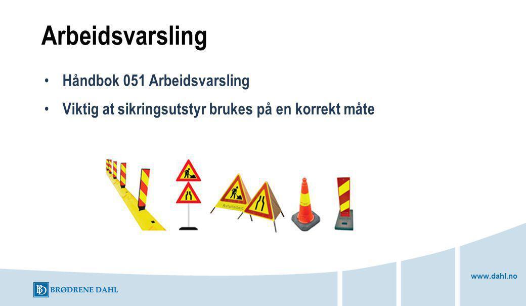 Arbeidsvarsling Håndbok 051 Arbeidsvarsling